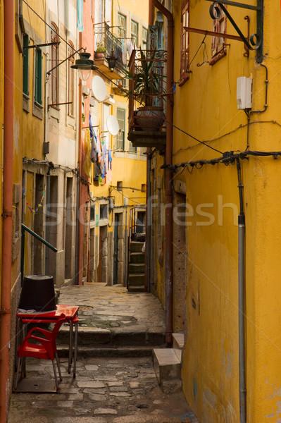 narrow street in old town, Porto, Portugal Stock photo © neirfy