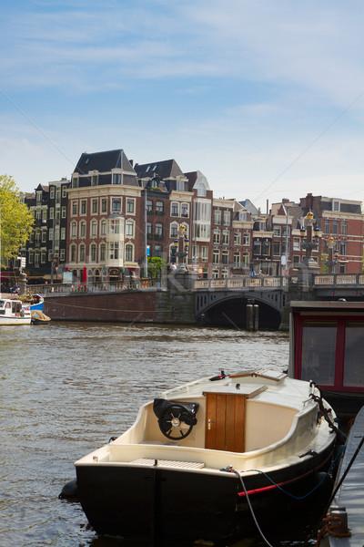 Amstel riverbank,  Amsterdam, Netherlands Stock photo © neirfy