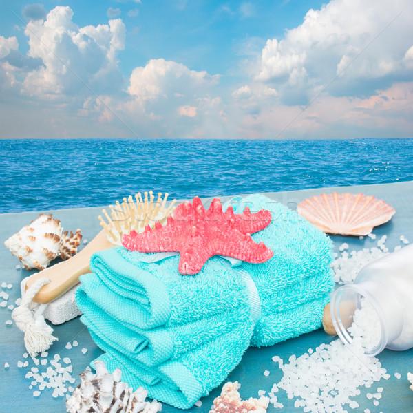 Mar estância termal beira-mar tratamento de spa starfish azul Foto stock © neirfy