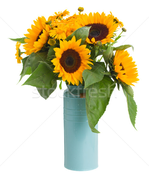 sunflowers and marigold flowers bouquet Stock photo © neirfy