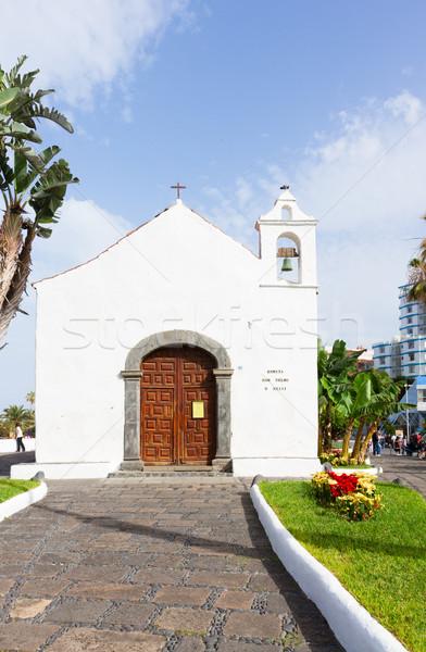 Typical canarian church in Puerto de la Cruz, Tenerife Stock photo © neirfy