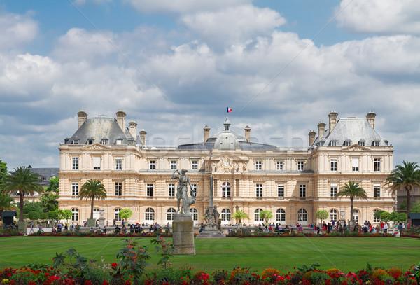 Luxemburg tuin Parijs groene gazon zomer Stockfoto © neirfy