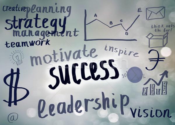 Scharfeinstellung Erfolg Geist Karte geschrieben Worte Stock foto © neirfy