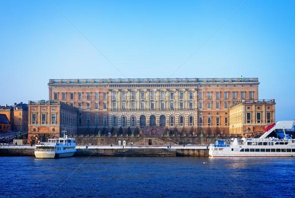 Koninklijk paleis Stockholm water Zweden Stockfoto © neirfy