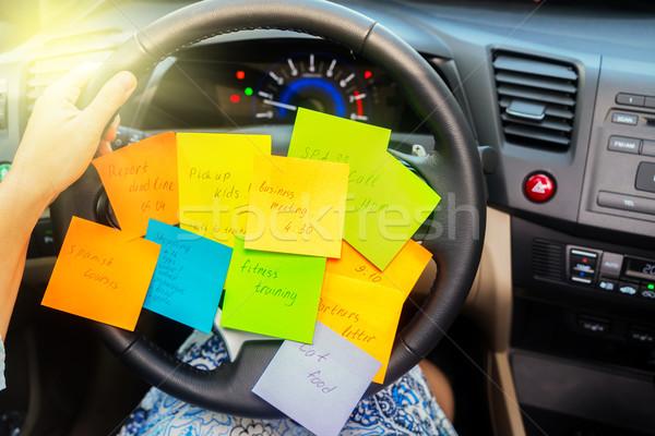 Para hacer la lista coche ocupado día oficina papel Foto stock © neirfy