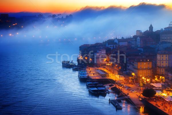 丘 旧市街 ポルトガル 1泊 家 市 ストックフォト © neirfy