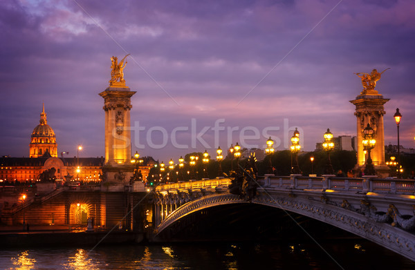 Bridge of Alexandre III, Paris, France Stock photo © neirfy