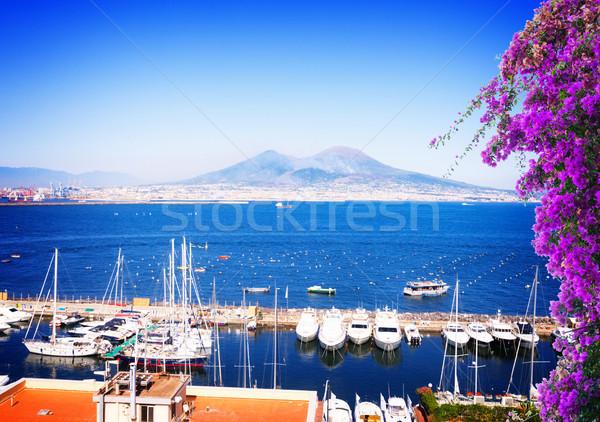 Naples and Vesuvius volcano, Italy Stock photo © neirfy