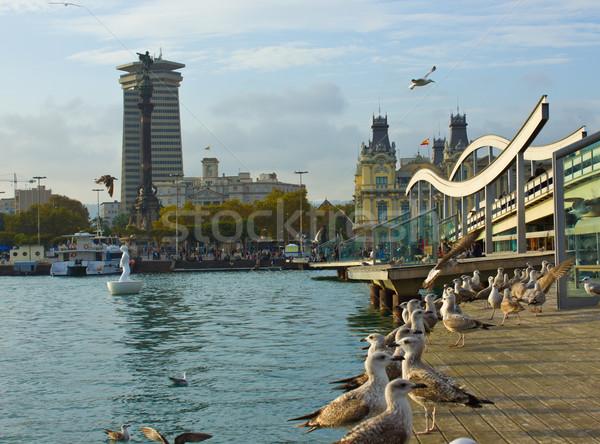 Port Vell, Barcelona, Spaiin Stock photo © neirfy