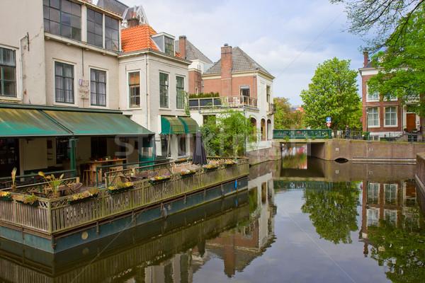 street of Den Haag, Holland Stock photo © neirfy