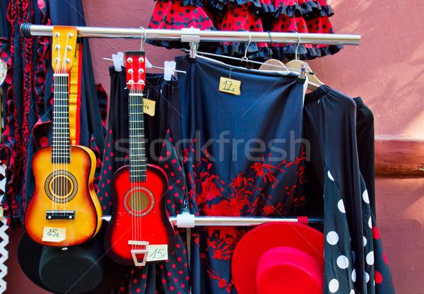 Geleneksel İspanyolca suit flamenko sokak hatıra Stok fotoğraf © neirfy