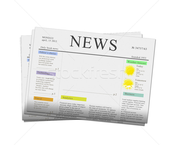 news papers with copy space Stock photo © neirfy