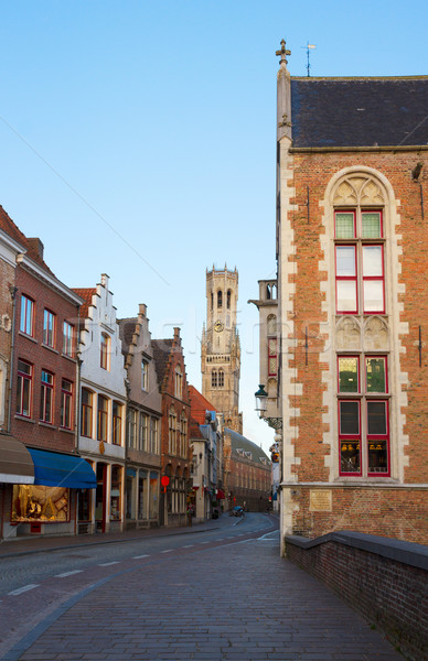 street of old Bruges Stock photo © neirfy