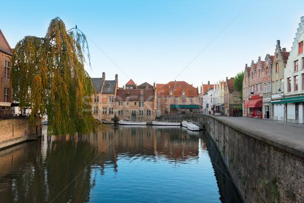 канал улице старый город красочный исторический дома Сток-фото © neirfy
