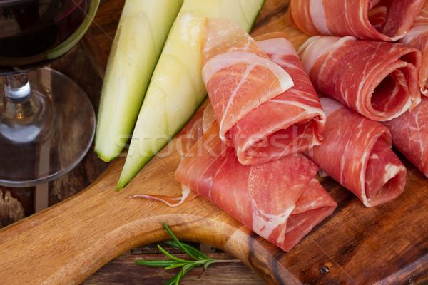 platter of ham Stock photo © neirfy