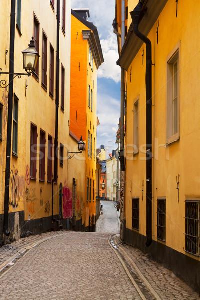 старый город улице Стокгольм Швеция мнение узкий Сток-фото © neirfy