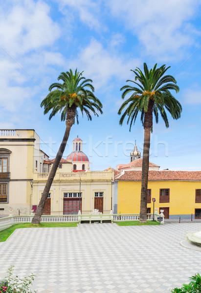 La tenerife aldeia praça vazio Espanha Foto stock © neirfy