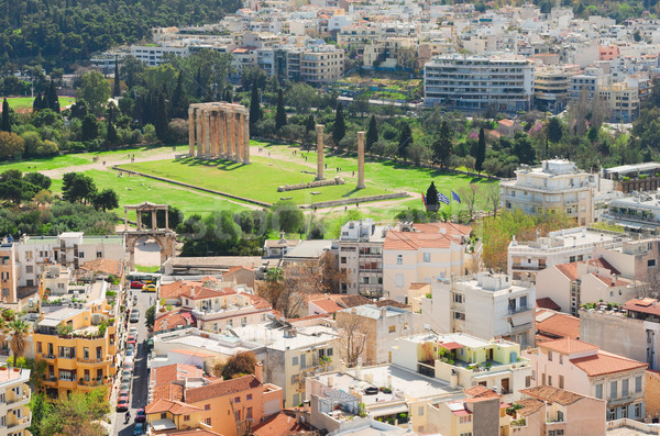 Temple of the Olympian Zeus at Athens Stock photo © neirfy