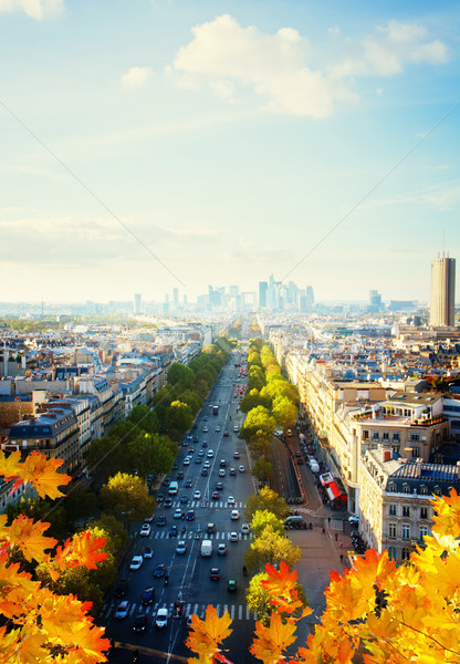 skyline of Paris and La Defense district , France Stock photo © neirfy