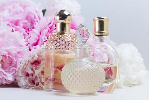 öz cam taze çiçekler beyaz doğa Stok fotoğraf © neirfy