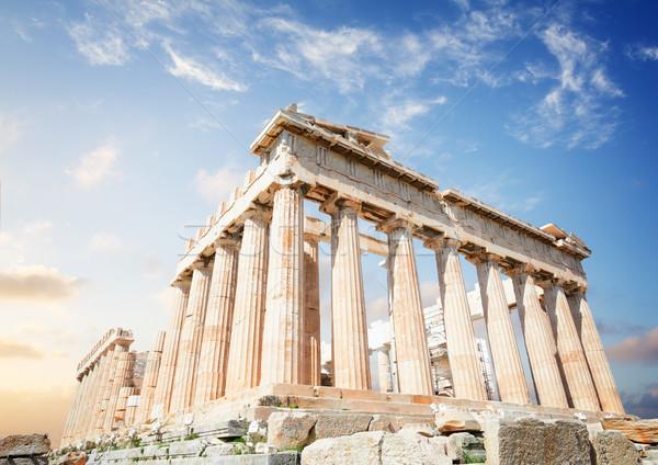 Partenón templo Atenas amanecer cielo Acrópolis Foto stock © neirfy