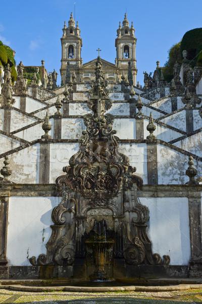 Portuguese sanctuary Bom Jesus do Monte Stock photo © neirfy
