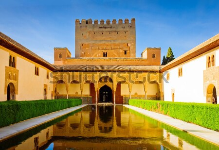 cortyard of Alhambra, Granada, Spain Stock photo © neirfy
