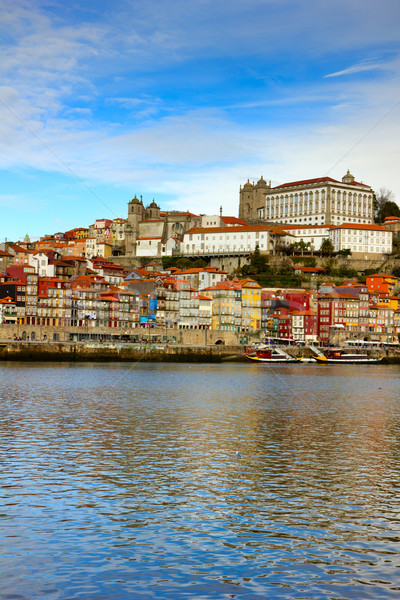 bishops palace and old town of Porto Stock photo © neirfy