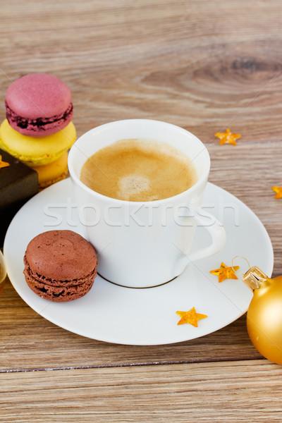 Stok fotoğraf: Noel · fincan · kahve · sabah · mutlu · soyut