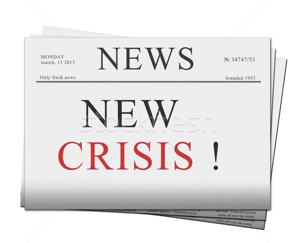 issue of newspapers with crisis news Stock photo © neirfy
