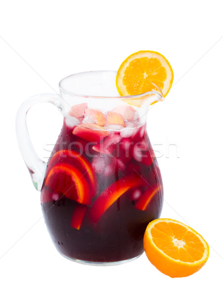 jar of sangria wine Stock photo © neirfy