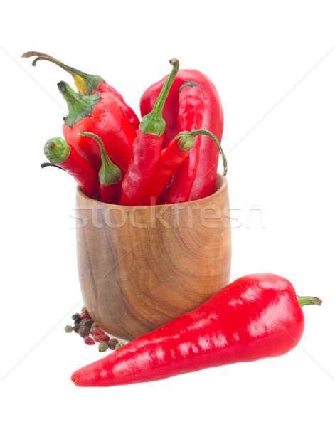 red chili peppers in bowl Stock photo © neirfy