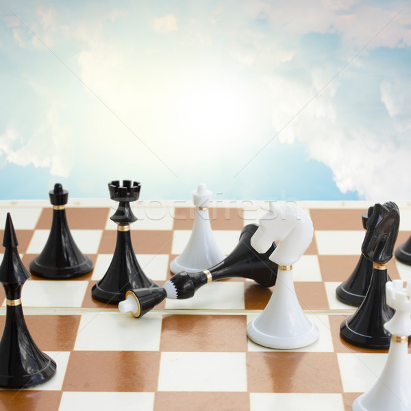 checkmate white defeats black  king Stock photo © neirfy