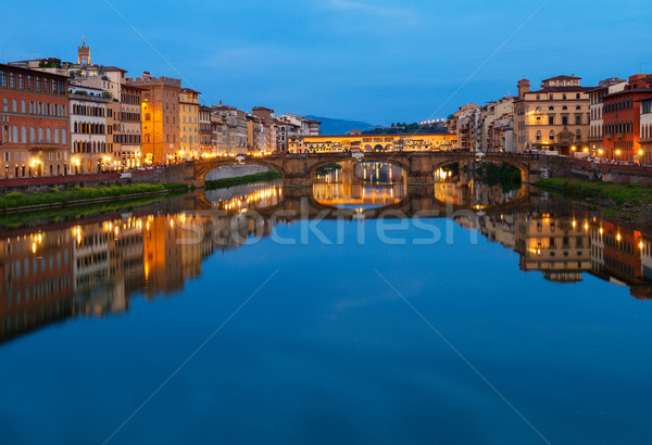 Ponte Santa Trinita bridge over the Arno River, Florence Stock photo © neirfy