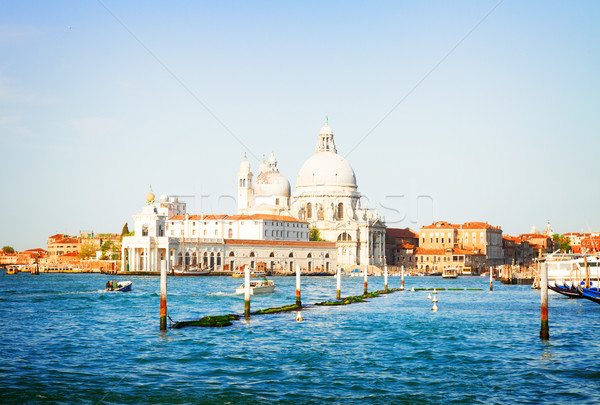 Basilique Venise Italie canal eau Photo stock © neirfy