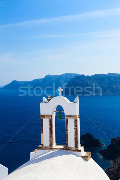 白 サントリーニ 島 ギリシャ 教会 海 ストックフォト © neirfy