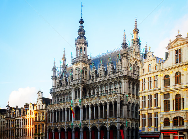 Roi Bruselas fachada día Bélgica ciudad Foto stock © neirfy