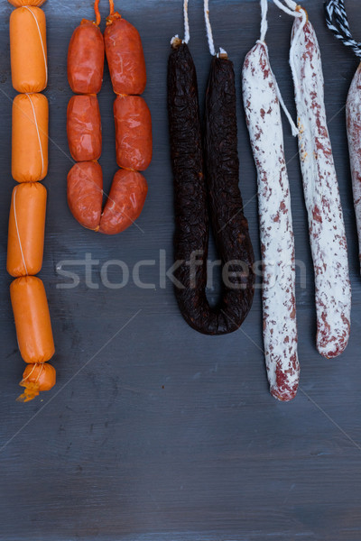 мяса подвесной стойку рынке вертикальный Сток-фото © neirfy
