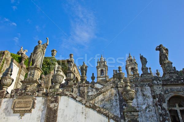 Portuguese sanctuary 'Bom Jesus do Monte' Stock photo © neirfy