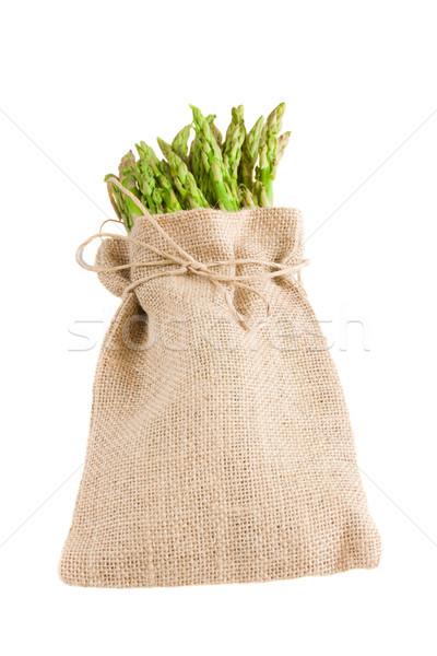 green asparagus in pouch Stock photo © neirfy