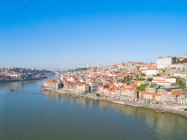 Stockfoto: Oude · binnenstad · boven · Portugal · water · huis · oranje