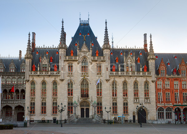 City hall of Bruges Stock photo © neirfy