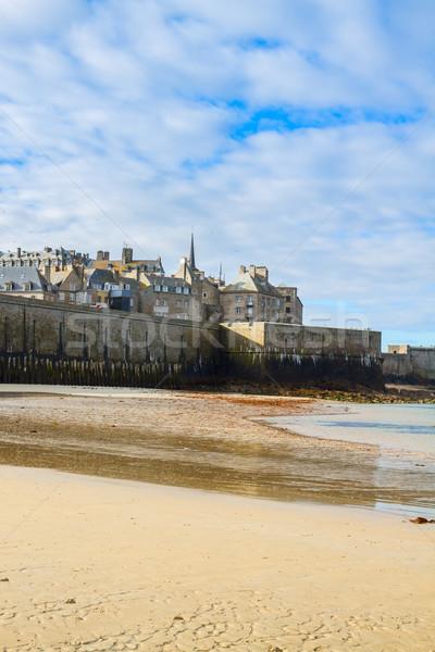 Saint-Malo City Wall , Brittany, France Stock photo © neirfy