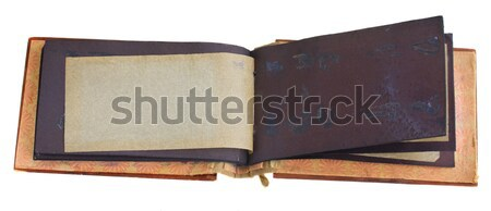 antique photo album Stock photo © neirfy
