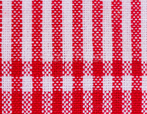 Tissu nappe texture rouge Photo stock © neirfy