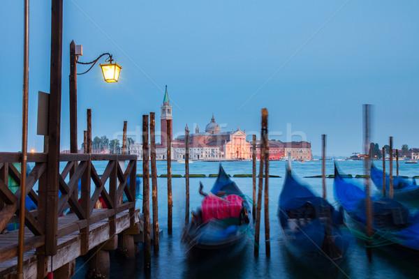 Canal nuit Venise île Italie Photo stock © neirfy