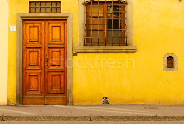 Sokak Floransa İtalya eski tarihsel Stok fotoğraf © neirfy
