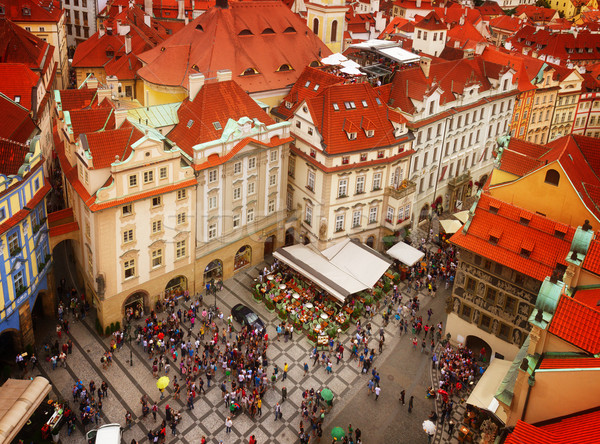 market square  in old town of Prague Stock photo © neirfy