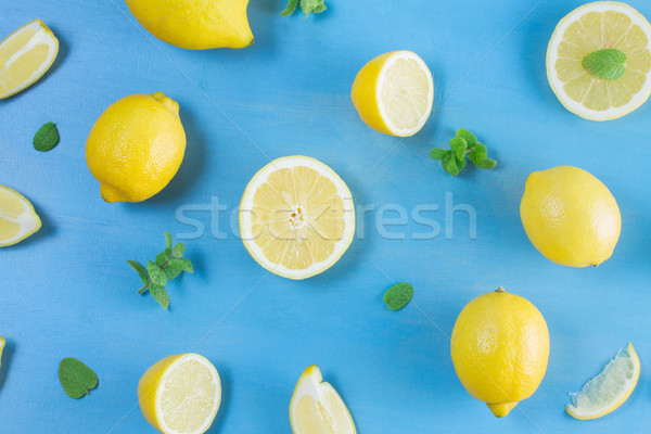 Fresh lemon fruits Stock photo © neirfy