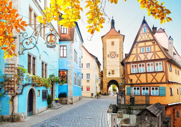 ドイツ 住宅 市 塔 秋 世界 ストックフォト © neirfy